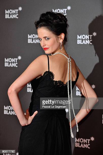 Actress and Montblanc Brand Ambassador Eva Green attends the 'Writing Time', Robert Wilson's watch launch gala hosted by Montblanc during the Salon...