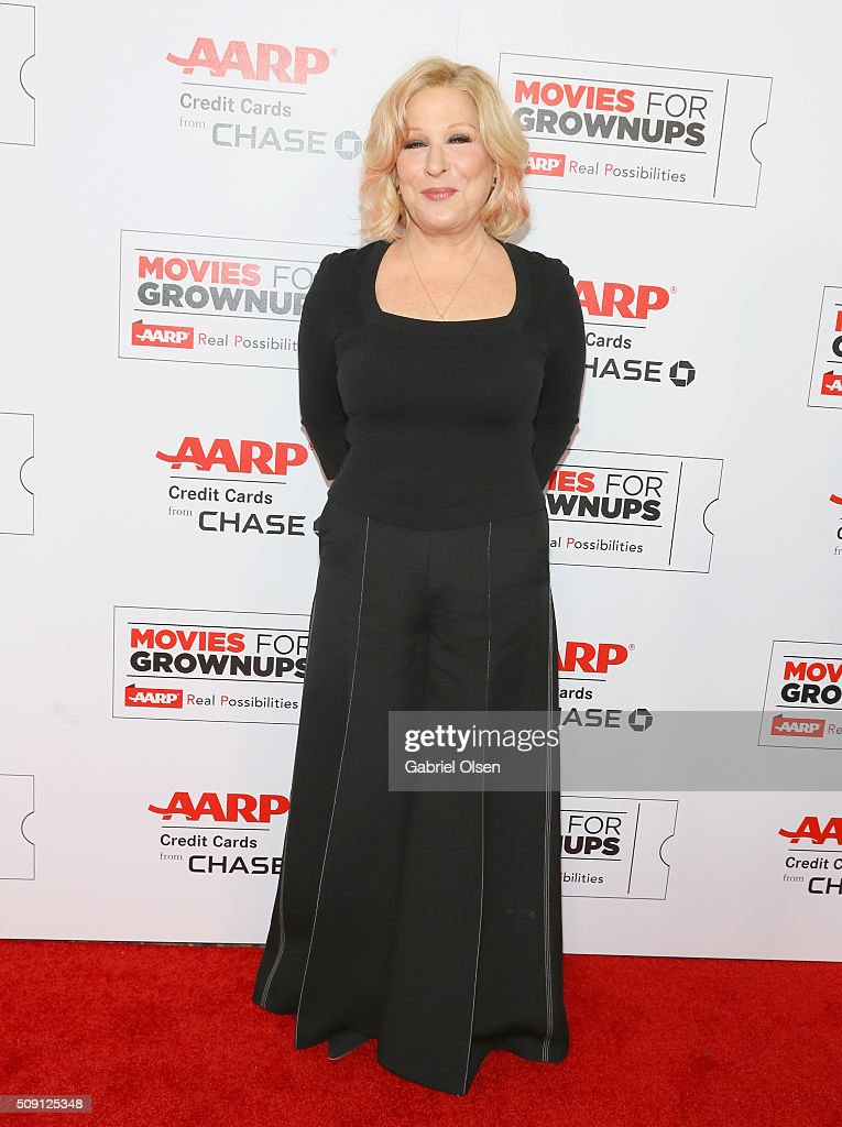 Actress and musician Bette Midler attends AARP's 15th Annual Movies For Grownups Awards at the Beverly Wilshire Four Seasons Hotel on February 8, 2016 in Beverly Hills, California.