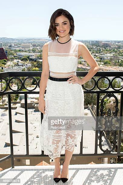 Actress and musician Lucy Hale launches mark Spring Beauty Collection at The London Hotel on April 8 2015 in West Hollywood California