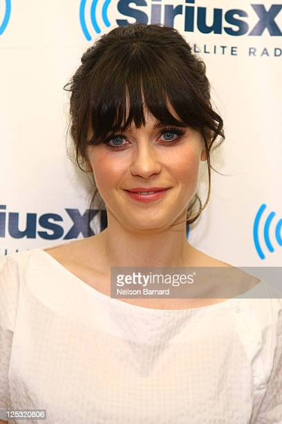 Actress and musician Zooey Deschanel visits Mark Says Hi on Raw Dog Comedy at SiriusXM Studios on September 16 2011 in New York City