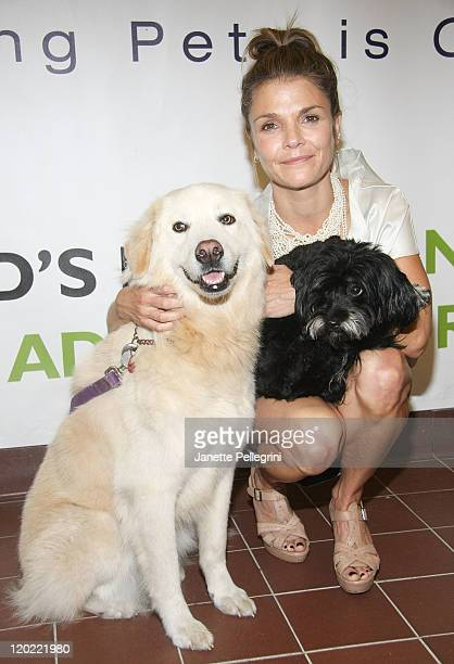 Actress and Muttigrees Spokesperson Kathryn Erbe with her dogs Lilah and Tallullah attends the 2011 World Muttigrees Rescue Day at the North Shore...