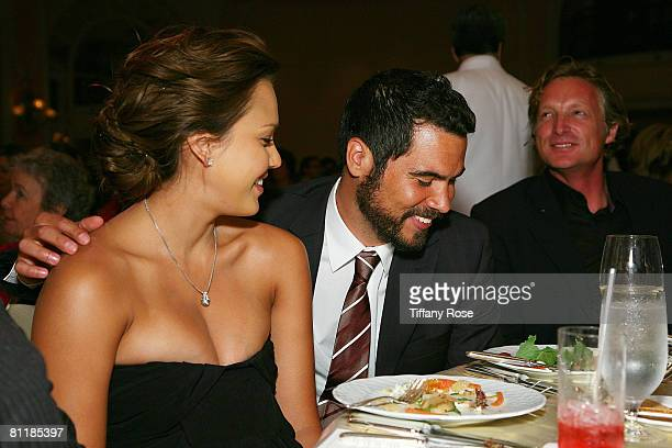 Actress and newlywed Jessica Alba and husband Cash Warren enjoy an evening at the 2008 Celebration of Mentoring on May 20 2008 at the Beverly Hills...