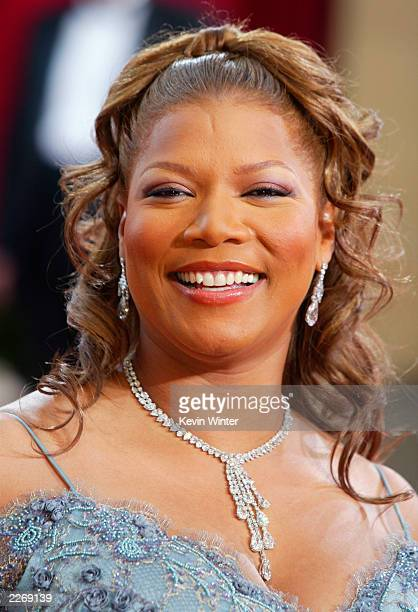 Actress and nominee Queen Latifah wearing Harry Winston jewelry attends the 75th Annual Academy Awards at the Kodak Theater on March 23 2003 in...