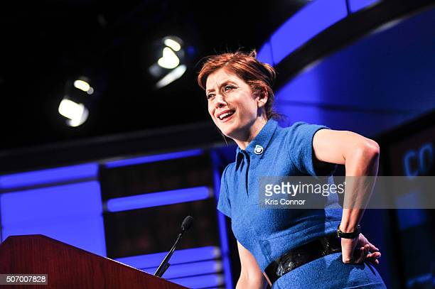 Actress and Ocean Advocate Kate Walsh speaks during the Oceana's Coastal Voices Summit at George Washington University on January 26 2016