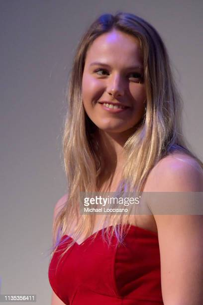Actress and Olympic athlete Morgan Schild takes part in a QA following the 'Olympic Dreams' premiere during the 2019 SXSW Conference and Festivals at...