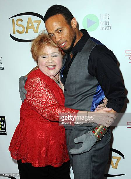 Actress and Patrika Darbo and actor Kiko Ellswoth at the 7th Annual Indie Series Awards held at El Portal Theatre on April 6 2016 in North Hollywood...