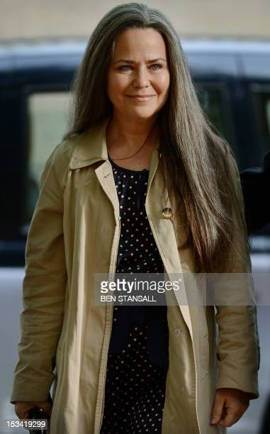 US actress and photographer Koo Stark arrives at West of London Magistrates court in Hammersmith London on October 5 2012 Stark who dated Prince...