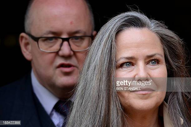 US actress and photographer Koo Stark leaves West of London Magistrates court in Hammersmith London on October 5 2012 Stark who dated Prince Andrew...