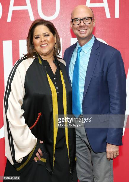 Actress and playwright Anna Deavere Smith and moderator Richard Ridge attend SAGAFTRA Foundation Conversations 'Notes From The Field' at The Robin...