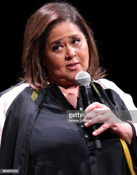 Actress and playwright Anna Deavere Smith speaks on stage during SAGAFTRA Foundation Conversations 'Notes From The Field' at The Robin Williams...