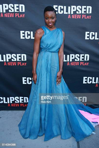 Actress and playwright Danai Gurira attends the 'Eclipsed' broadway opening night at The Golden Theatre on March 6 2016 in New York City