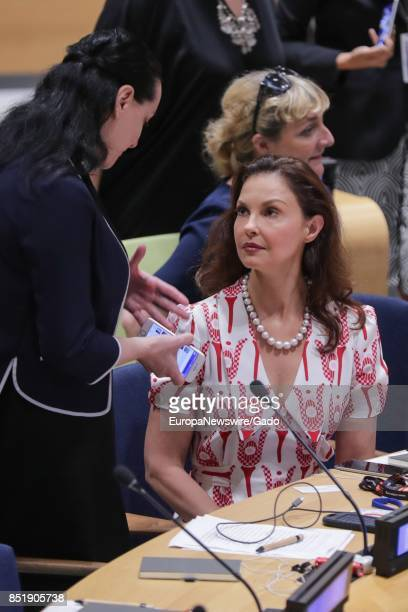 Actress and political activist Ashley Judd during a highlevel event on Financing the Future Education 2030 at the UN Headquarters in New York City...