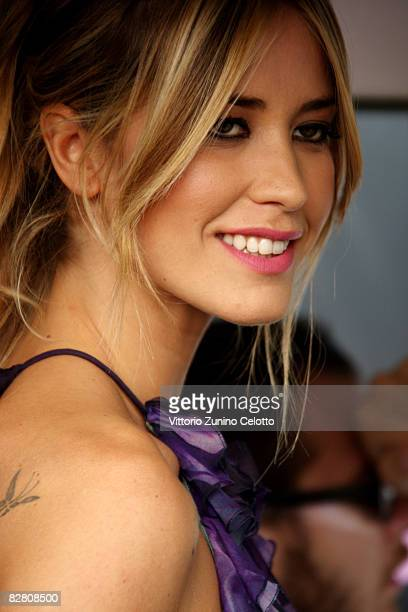 Actress and Presenter Elena Santarelli attends Genoa MTV Day 2008 at the Old Port on September 13 2008 in Genoa Italy
