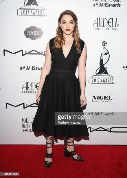 Actress and presenter Violett Beane attends the 2017 MakeUp Artists and Hair Stylists Guild Awards at The Novo by Microsoft on February 19 2017 in...