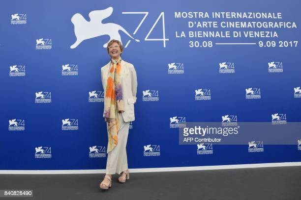 Actress and president of the jury Annette Bening attends a photocall of the jury of the 74th Venice Film Festival on August 30, 2017 at Venice Lido....