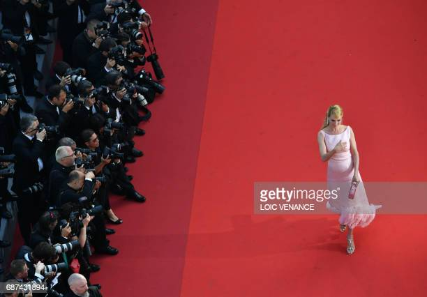 Actress and President of the Un Certain Regard jury Uma Thurman arrive on May 23, 2017 for the '70th Anniversary' ceremony of the Cannes Film...