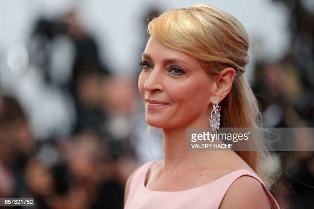US actress and President of the Un Certain Regard jury Uma Thurman poses as she arrives on May 23 2017 for the '70th Anniversary' ceremony of the...