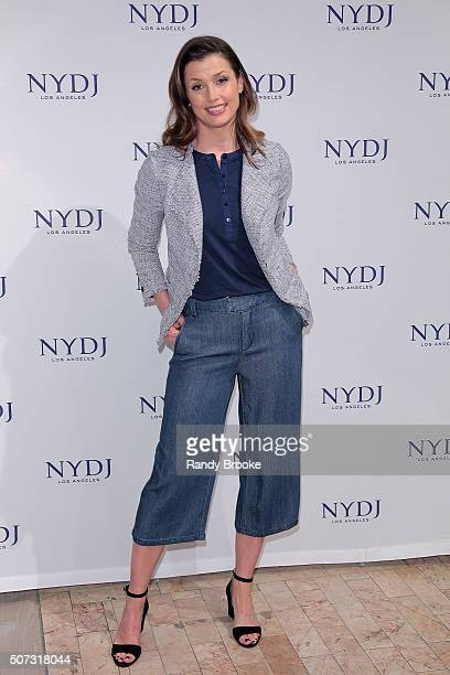 Actress and previous campain star Bridget Moynahan attends the NYDJ 2016 Fit To Be Campaign Launch at Lord Taylor on January 28 2016 in New York City