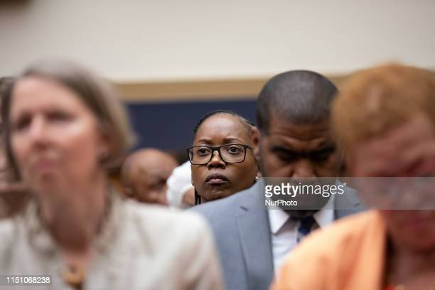 Actress and producer Erika Alexander, attends the hearing about reparations for the descendants of slaves before the House Judiciary Subcommittee on...