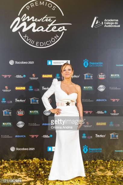 Actress and producer Isabel Blanco attends the Mestre Mateo Awards in A Coruna on March 07 2020 in A Coruna Spain