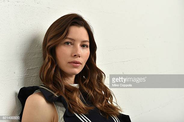 Actress and producer Jessica Biel poses at the Tribeca Film Festival Getty Images Studio on April 14 2016 in New York City