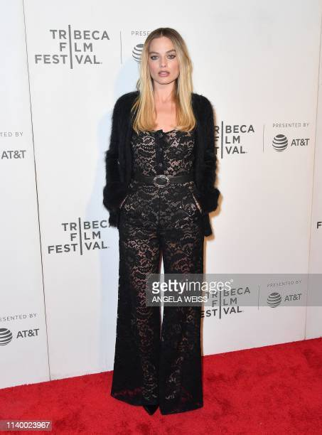 Actress and producer Margot Robbie attends the Dreamland world premiere during the 2019 Tribeca Film Festival at BMCC Tribeca PAC on April 28 2019 in...