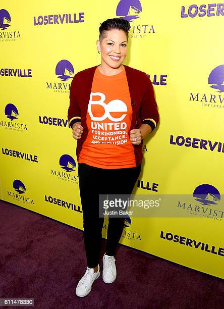 Actress and Producer Sara Ramirez attends the premiere of Marvista Entertainment's 'Loserville' at ArcLight Hollywood on September 29 2016 in...