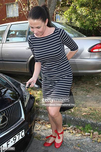 Actress and radio host Kate Ritchie, who is newly engaged to rugby league player Stuart Webb, leaves her car on September 22, 2009 in Sydney,...