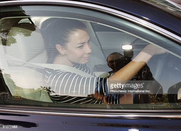 Actress and radio host Kate Ritchie, who is newly engaged to rugby league player Stuart Webb in her car on September 22, 2009 in Sydney, Australia.