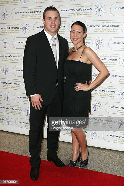 Actress and radio personality Kate Ritchie and her fiancee Stuart Webb arrives for the Australian Commercial Radio Awards 2009 at the Sydney...