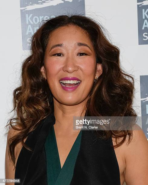 Actress and recipient of the inaugural Trailblazer Award Sandra Oh arrives at the Korean American Story Fifth Annual Fundraising Gala held at Tribeca...