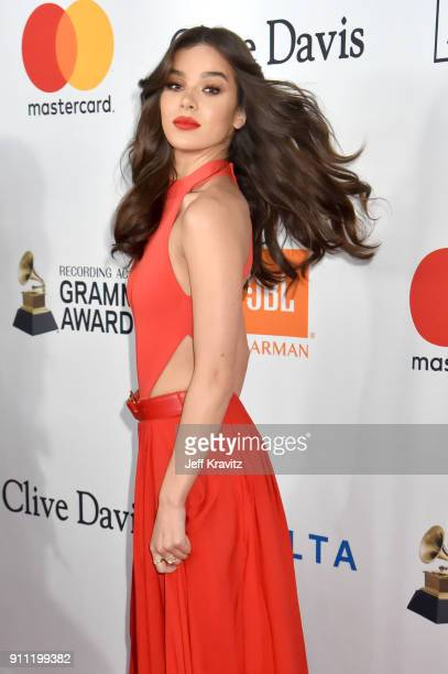 Actress and recording artist Hailee Steinfeld attends the Clive Davis and Recording Academy PreGRAMMY Gala and GRAMMY Salute to Industry Icons...