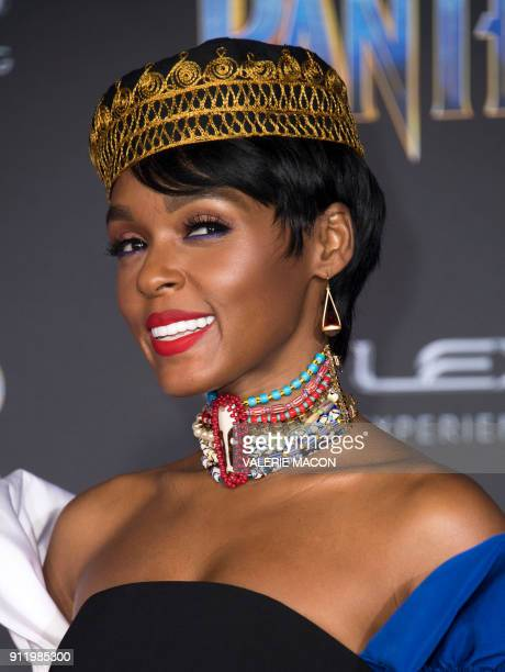 Actress and recording artist Janelle Monáe attends the world premiere of Marvel Studios Black Panther, on January 29 in Hollywood, California. / AFP...