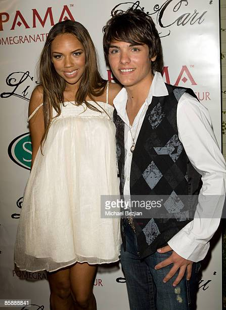 Actress and recording artist Keily Williams and ecording artist Vincent Tomas attend Diane Merrick Boutique's launch party on April 9 2009 in Los...