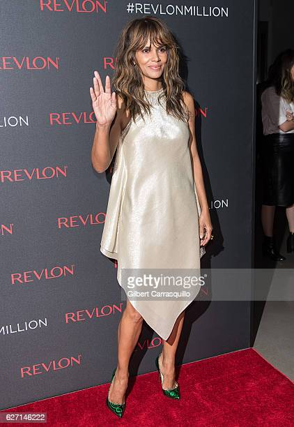 Actress and Revlon brand ambassador Halle Berry attends Revlon's 2nd Annual Love Is On Million Dollar Challenge Finale Party at The Glasshouses on...