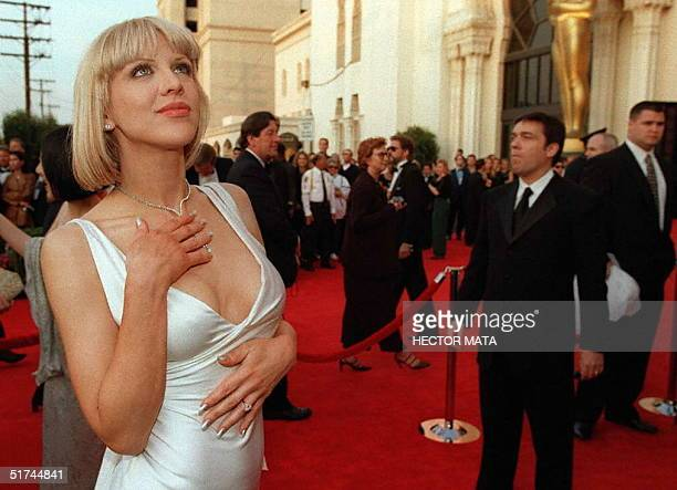 US actress and rock singer Courtney Love arrives for the 69th Academy Awards ceremony at the Shrine Auditorium in Los Angeles 24 March Courtney Love...
