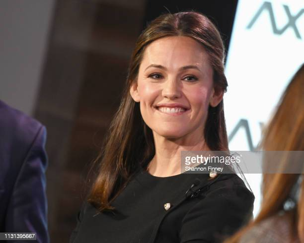 Actress and Save the Children Trustee Jennifer Garner speaks at the Axios News Shapers event on the US education system on February 22 2019 in...