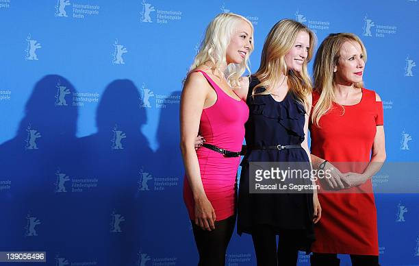 """Actress and scriptwriter Lorelei Lee, actress Ashley Hinshaw and actress and producer Elana Krausz attend the """"Cherry"""" Photocall during day eight of..."""