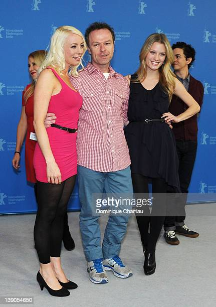 Actress and scriptwriter Lorelei Lee director Stephen Elliott and actress Ashley Hinshaw attend the Cherry Photocall during day eight of the 62nd...