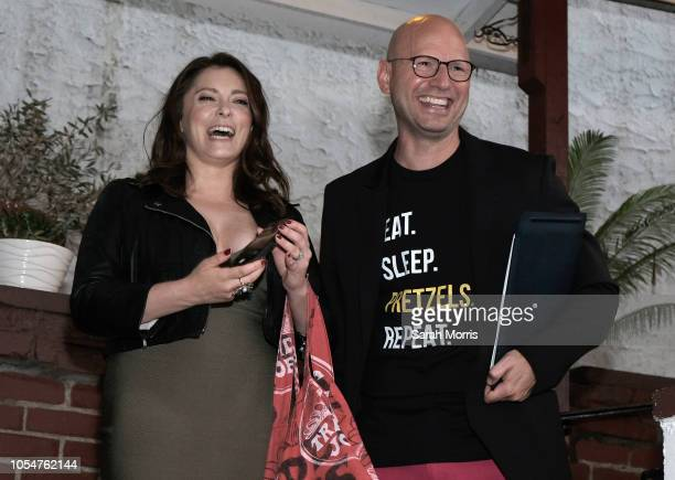 Actress and series cocreator Rachel Bloom and Troy Williams attend the 'Crazy ExGirlfriend' season 4 premiere party at El Cid on October 13 2018 in...