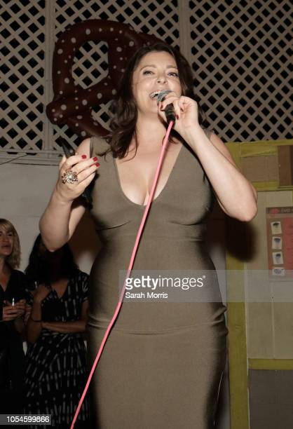Actress and series cocreator Rachel Bloom speaks before the screening of the season 4 premiere episode during the 'Crazy ExGirlfriend' season 4...