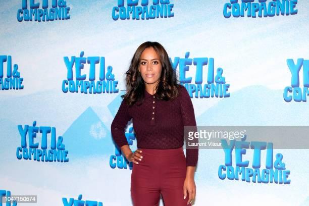 Actress and Singer Amel Bent attends Yeti Cie Paris Premiere at Cinema Gaumont Capucine on October 7 2018 in Paris France