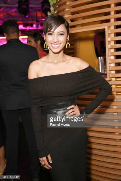Actress and singer Andy Allo attends the BET Her Awards Presented By Bumble at Conga Room on June 21 2018 in Los Angeles California