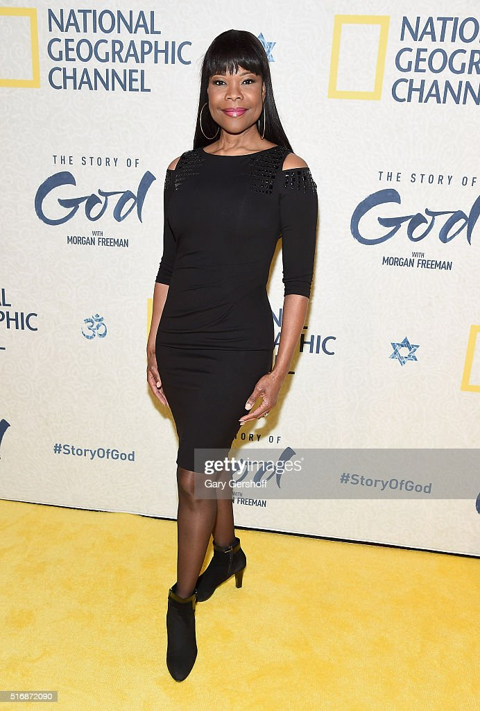 Actress and singer Angela Robinson attends the National Geographic 'The Story Of God' with Morgan Freeman world premiere at Jazz at Lincoln Center on March 21, 2016 in New York City.