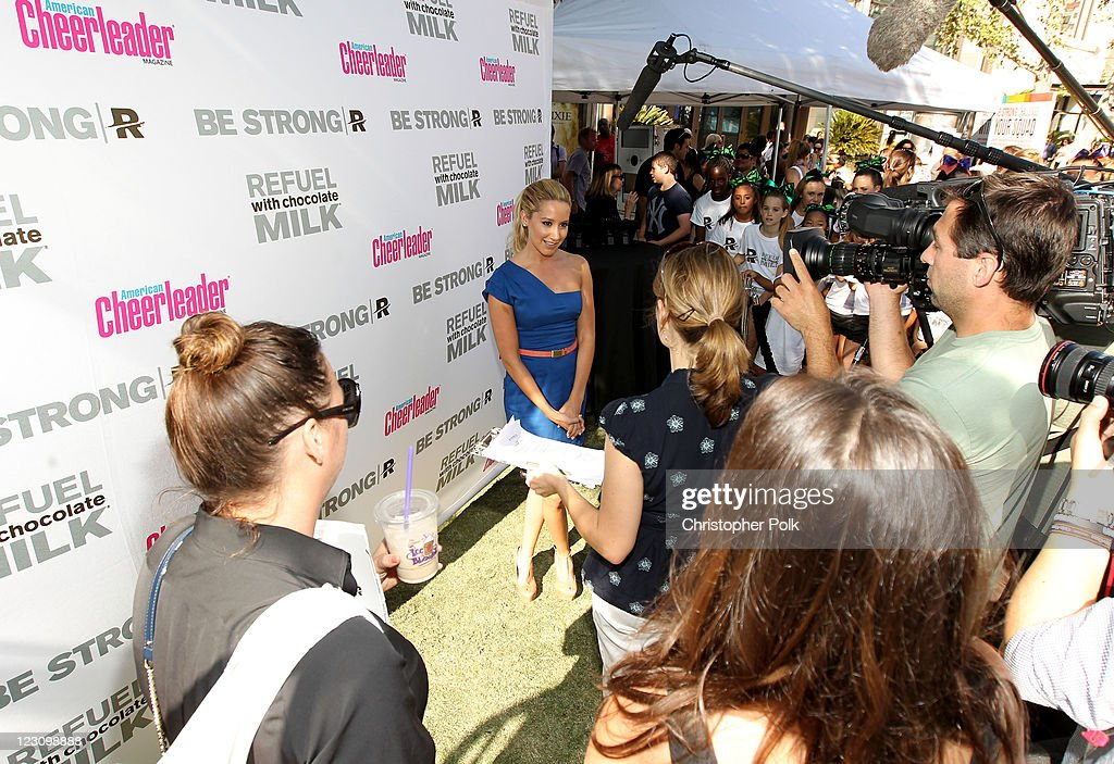 Actress and singer Ashley Tisdale attends the 'Be Strong' Challenge with Ashley Tisdale held at The Grove on August 30, 2011 in Los Angeles, California.