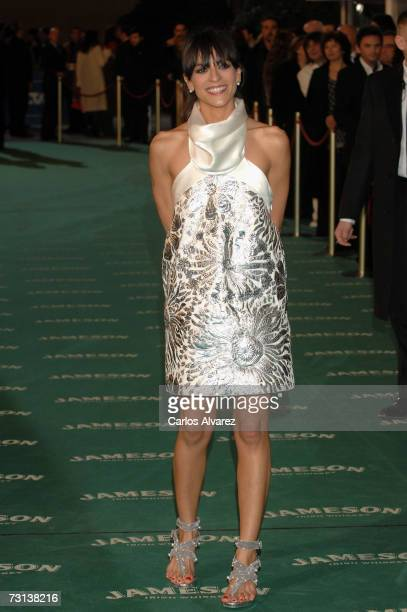 Actress and singer Bebe attends the Goya Cinema Awards ceremony on January 28 2007 at the Palacio de Congresos in Madrid Spain