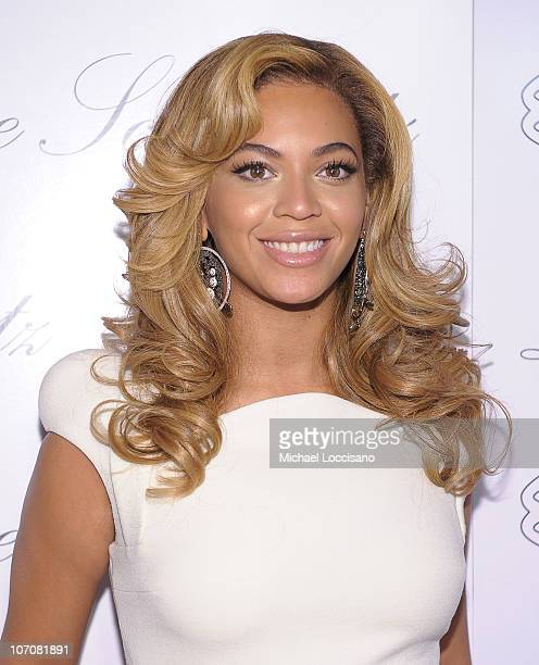 Actress and singer Beyonce Knowles hosts the launch of Lorraine Schwartz's 2BHAPPY jewelry collection at Lavo NYC on November 22 2010 in New York City