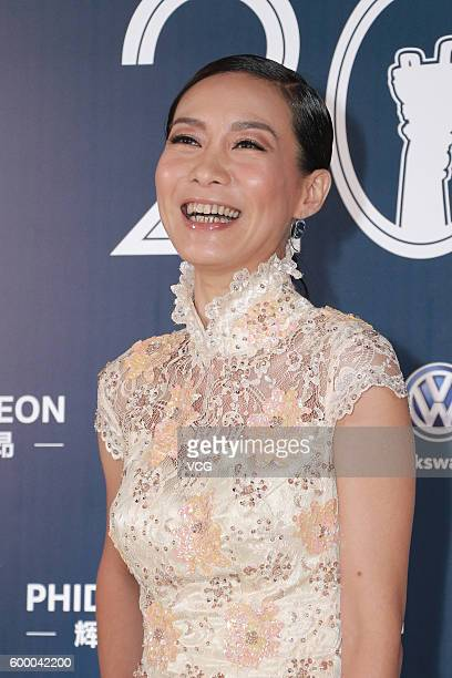 Actress and singer Bondy Chiu Hokyee poses during the 20th Huading Awards and China Film Satisfaction Survey Release Ceremony at Kowloon Bay...
