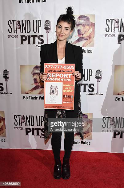 Actress and singer Briana Cuoco arrives at the Stand Up For Pits Comedy Benefit at The Improv on November 8 2015 in Hollywood California