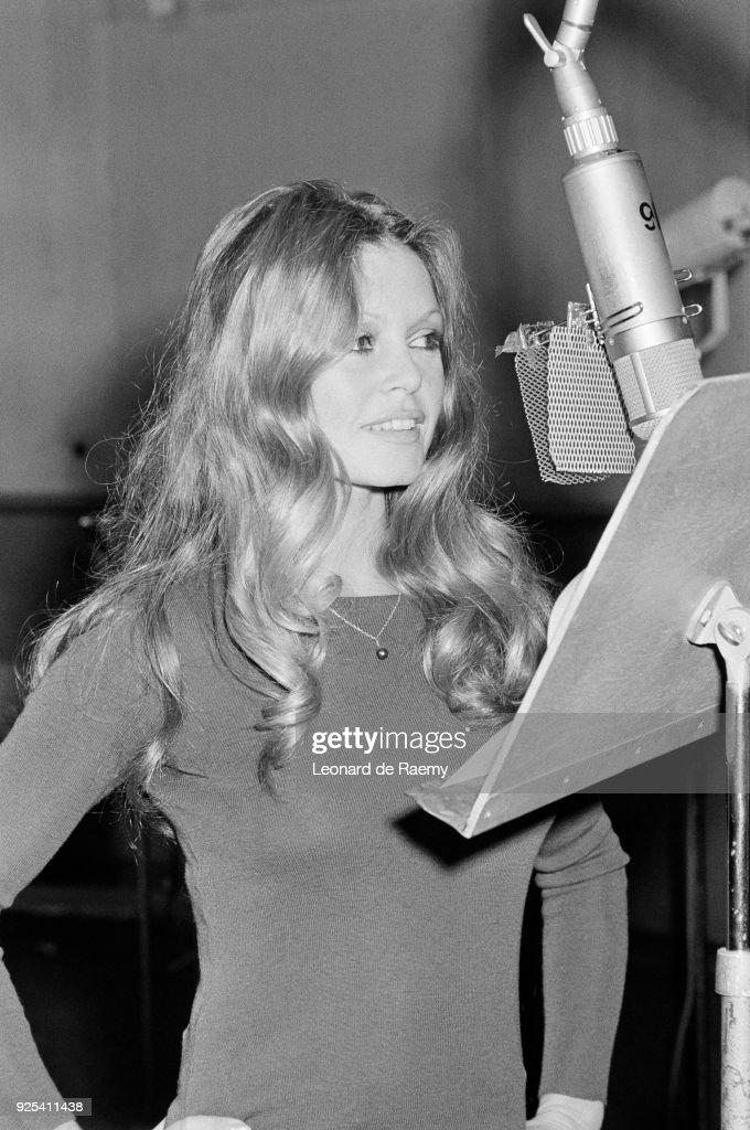 Actress and singer Brigitte Bardot records the song Vous Ma Lady